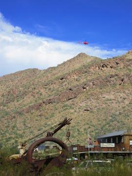 Flying at Robson's Mining World