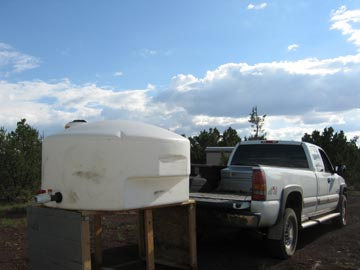 Loading the Water Tank