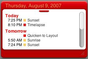iCal Events widget
