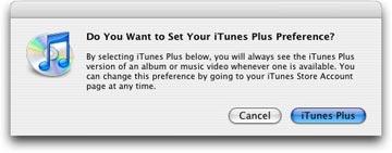 Set iTunes Plus preferences