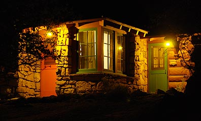 Bright Angel Cabin at Night