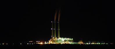 Navajo Power Plant at Night