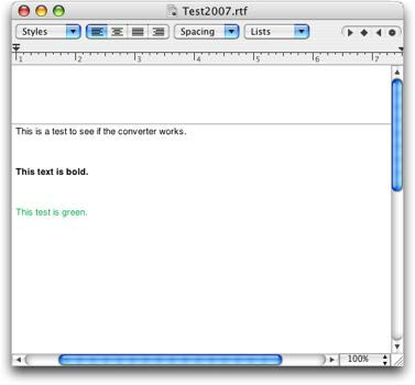 The Converted File in TextEdit