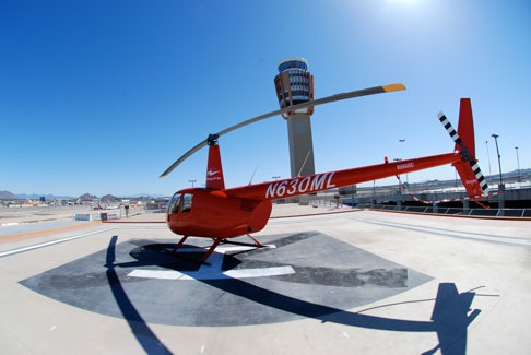 On the Terminal 3 Helipad