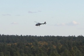Helicopter Near Grand View