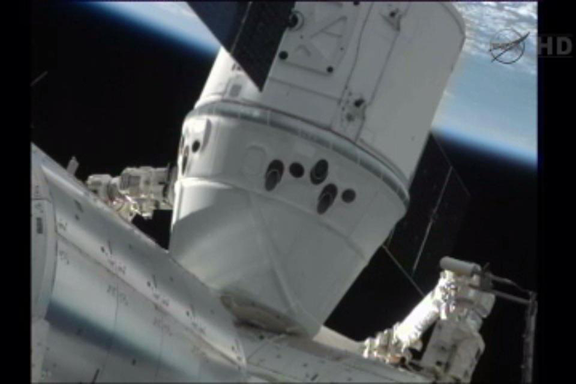 Dragon Docks with ISS