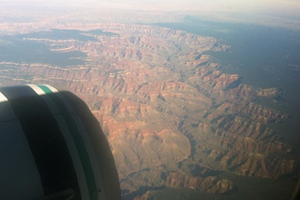 Grand Canyon from Airliner