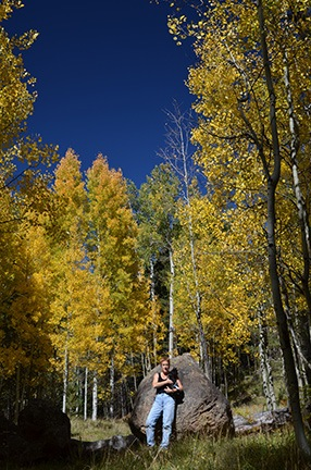 Self-Portrait in Aspens