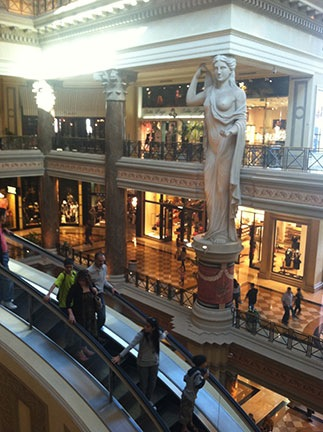 At the Forum Shops
