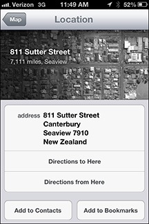 Apple Maps Example