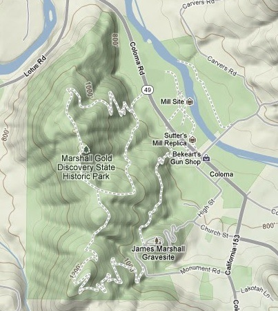 Sutters Mill Map
