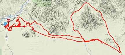 Track Log on a Map