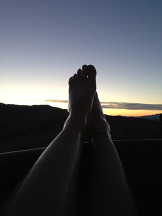 My Feet and the Sunset