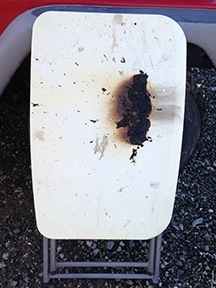 Burned Table