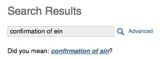 Confirmation of Sin?
