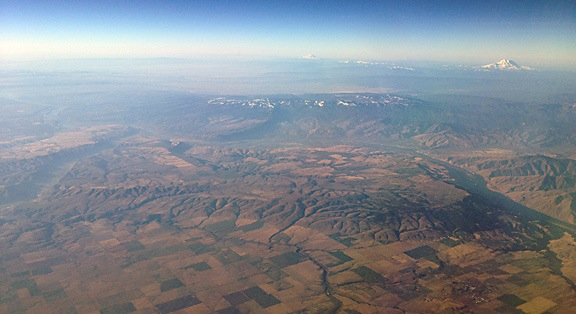 The Wenatchee Area from 25,000 Feet