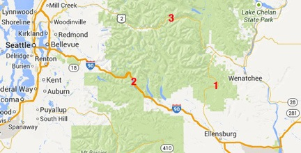 Wenatchee to Seattle Map