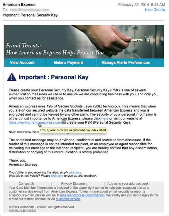 American Express Scam