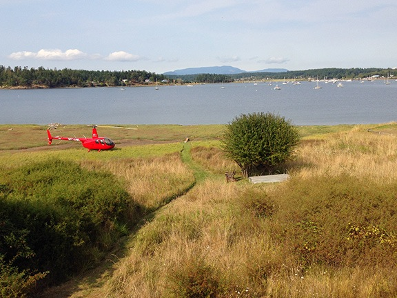Helicopter at Lopez Island