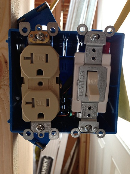 Light switch and outlet