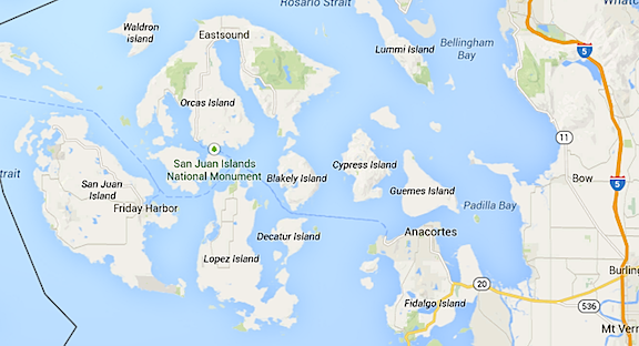 San Juan Island on Map