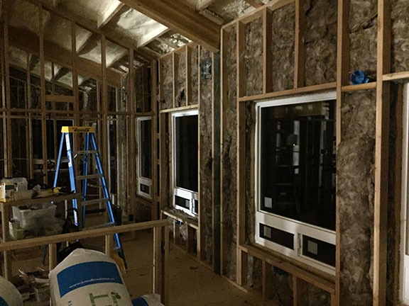 Insulation in North Wall
