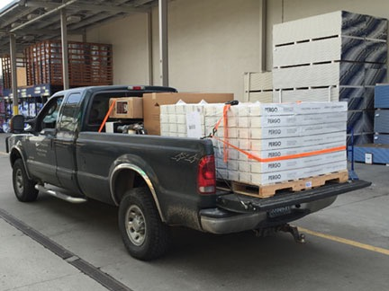 Truck Loaded with Pergo
