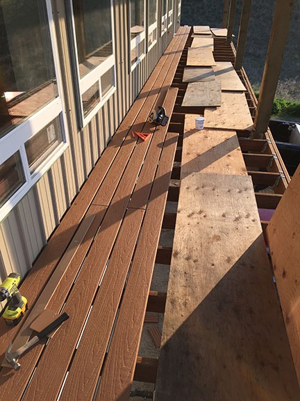 North Deck in Progress