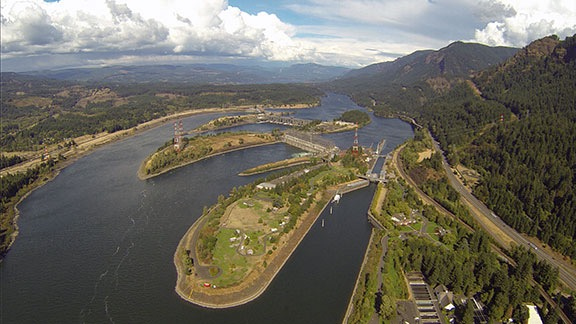 Bonneville Dam from the Air