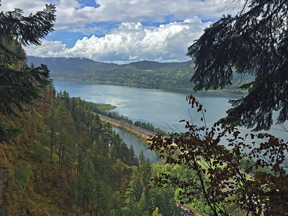 Columbia River from the top of Multomah Falls