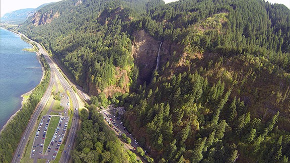Multnomah Falls from the Air