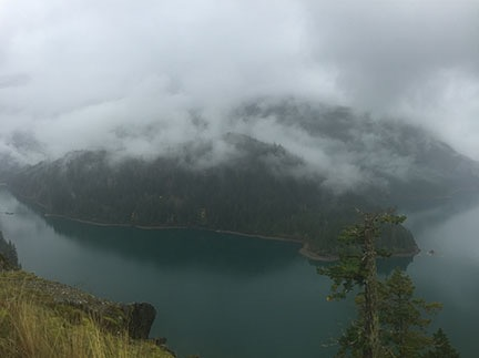 Diablo Lake with Clouds