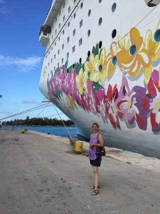 Laura Poses with Ship