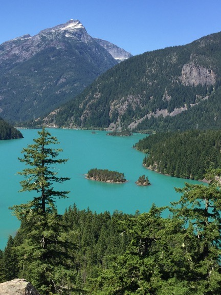 Diablo Lake from the Overlook