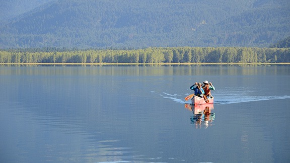 Canoeing on Ross Lake