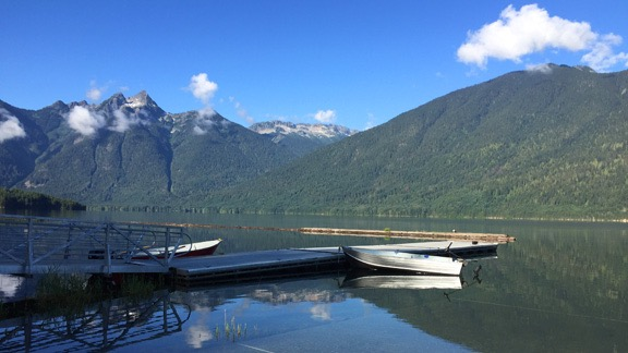 Hozomeen Dock at Ross Lake