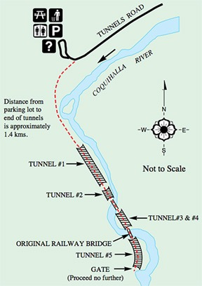 Othello Tunnels Map