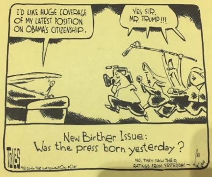 Trump Press Cartoon