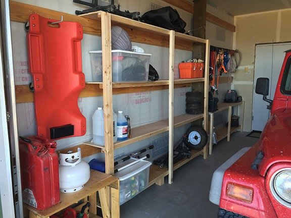 Finished Garage Shelves