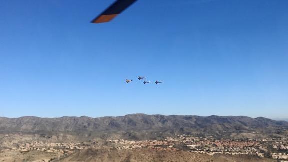 Flight of Four Stearman