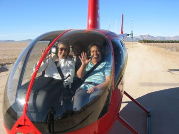 Celia Takes a Helicopter Ride