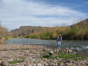 Mike and Jack at the Verde River