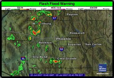 Flash Flood in Widget