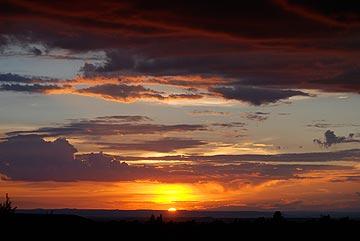 Sunset at Howard Mesa