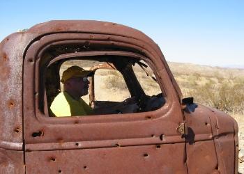 Ricky at the Wheel