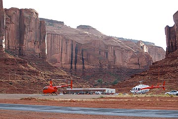 Helicopters at Monument Valley