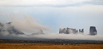 Clouds in Monument Valley