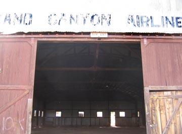 The Hangar Door at Old Grand Canyon Airport