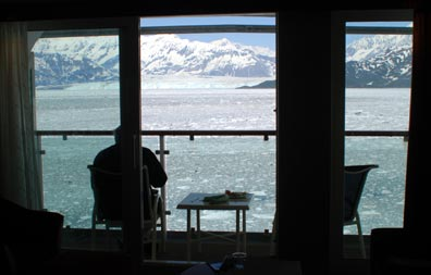 Hubbard Glacier from our Cabin