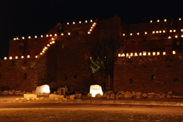 Hopi House at Night